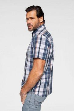man's world overhemd met korte mouwen blauw
