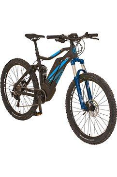 prophete e-bike »graveler e-mtb«, 10-versnellingen shimano deore xt achterderailleur, derailleurversnelling, middenmotor 250 w (set) zwart