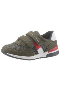 tommy hilfiger sneakers »low cut velcro« groen