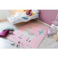 luxor living vloerkleed voor de kinderkamer »lama lulu« roze