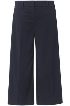 basler culotte met persplooien, in unikleurig design blauw