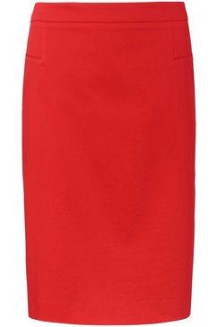 basler rok in kokermodel, in unikleurig design rood