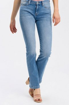 cross jeans regular fit jeans »lauren« blauw