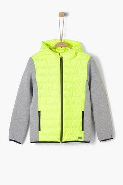 s.oliver jas in materialenmix_voor jongens wit