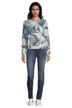 bettyco sweater met knoopsluiting »mit print« grijs