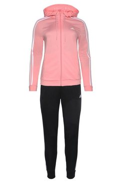 adidas performance trainingspak »osr polyester 3 stripes tracksuit« (set, 2-dlg.) roze