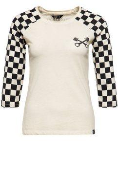 queenkerosin shirt met 3-4-mouwen »speedshop« beige