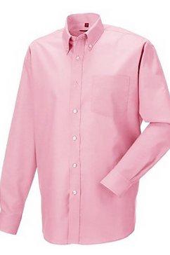russell overhemd met lange mouwen »oxford herren hemd, langaermlig, pflegeleicht« roze