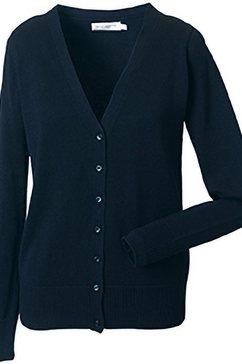 russell vest »collection damen mit v-ausschnitt« blauw