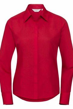 russell blouse met lange mouwen »collection popelin bluse - hemd, langarm, pflegeleicht, tailliert« rood