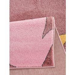 luettenhuett vloerkleed voor de kinderkamer »faultier«, luettenhuett, rechthoekig, hoogte 14 mm, machinaal geweven roze