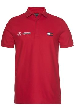 mercedes benz x tommy hilfiger poloshirt »1 mb tech logo slim polo« rood