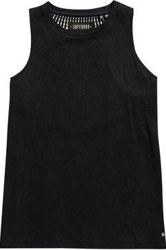 superdry tanktop »lily crochet insert vest« zwart