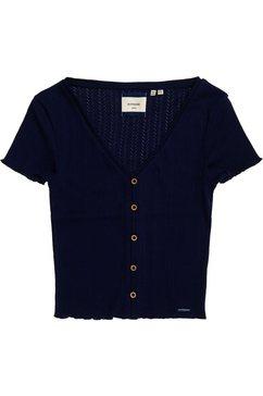 superdry shirt met korte mouwen »summer pointelle tee« blauw
