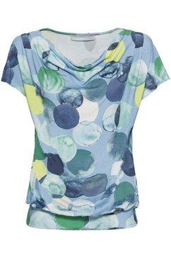 bianca shirt met cascadehals »wiebke« blauw