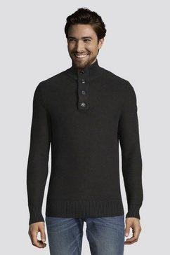tom tailor schipperstrui »pullover mit stehkragen« zwart