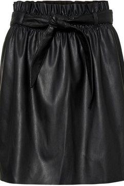 vero moda imitatieleren rok »vmaward belt« zwart