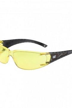 caterpillar zonnebril »cat blaze unisex veiligheidsbril« geel