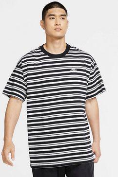 nike sb t-shirt »men's striped skate t-shirt« zwart