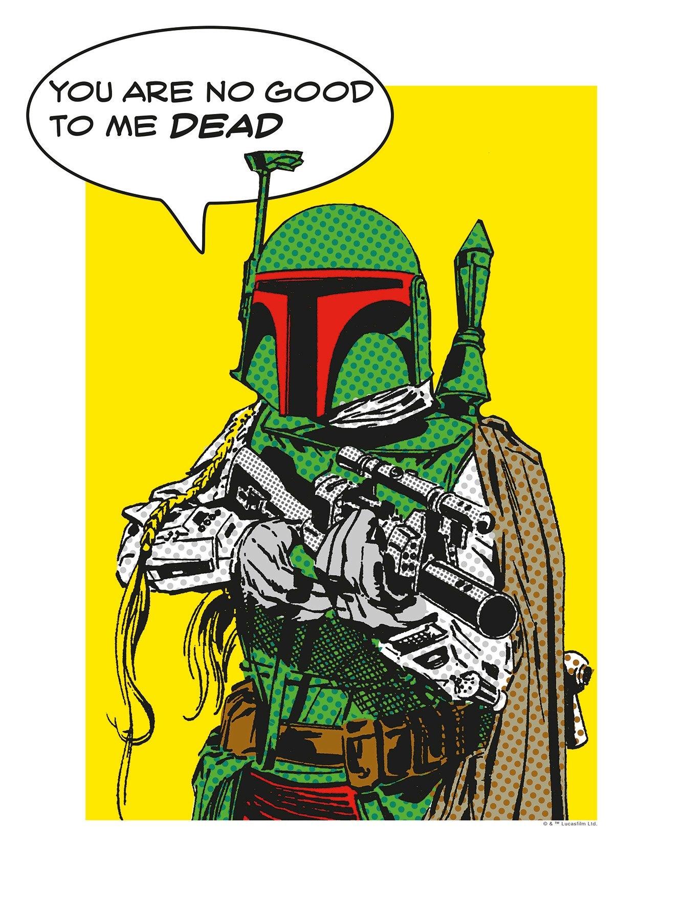 Komar wanddecoratie »Star Wars Classic Comic Quote Boba_Fett«, zonder lijst goedkoop op otto.nl kopen