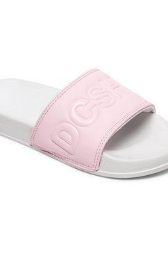 dc shoes - dc slide - slippers voor meisjes 8-16 grijs