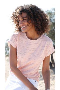 casual looks shirt met korte mouwen roze