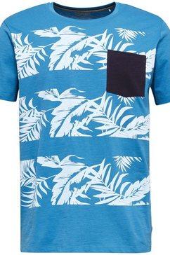 esprit shirt met ronde hals blauw