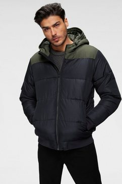 only  sons gewatteerde jas »boston quilted block hood« blauw