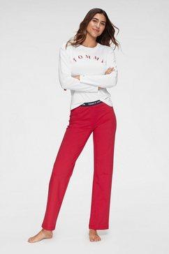tommy hilfiger pyjama »schlafanzug« (2-tlg.) rood