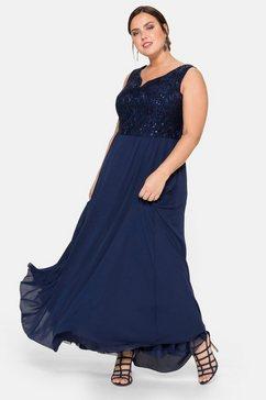 sheego style avondjurk blauw