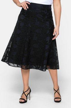 sheego casual rok in a-lijn zwart