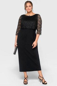 sheego maxi-jurk zwart