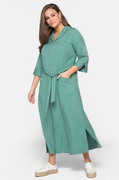 sheego maxi-jurk groen