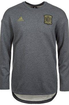 adidas performance sweatshirt »fef spanien seasonal specials wm 2018« grijs