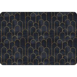 queence set placemats »ps0119«, queence (set, 4-tlg.) zwart