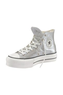 converse plateausneakers »chuck taylor all star lift hi« zilver
