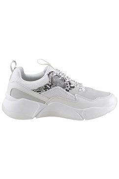 bullboxer sneakers met sleehak wit
