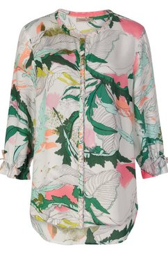 codello tuniekblouse met trendy exotic-print van modal groen