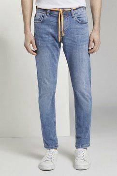tom tailor denim slim fit jeans »piers slim performance stretch effect« blauw