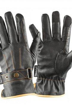 dublin paardrijhandschoenen »unisex leder-thinsulate-reitsporthandschuhe« zwart