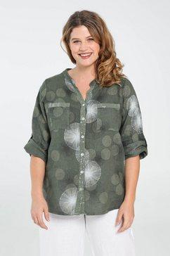 blouse met kasjmierprint groen