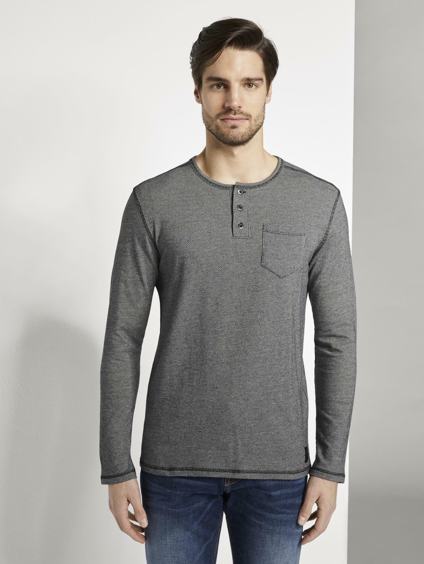 TOM TAILOR shirt met lange mouwen »Langarmshirt im Henley-Stil« bestellen: 30 dagen bedenktijd