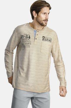 jan vanderstorm shirt met lange mouwen »ryolf« beige