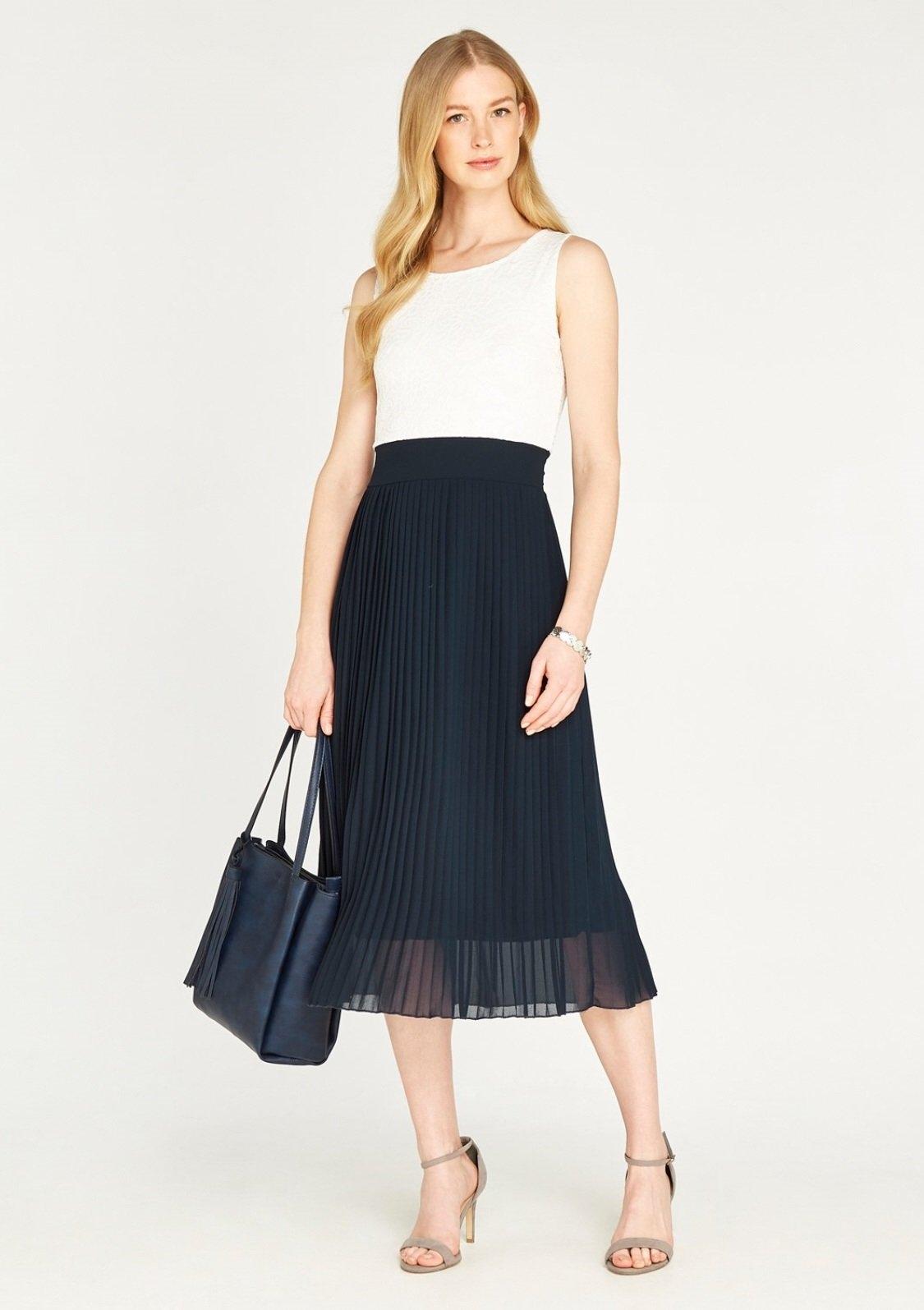 Apricot plisséjurk »Lace Midi Pleat Dress« bij OTTO online kopen