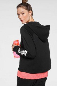adidas performance capuchonsweatvest »w stacked full zip hoody« zwart