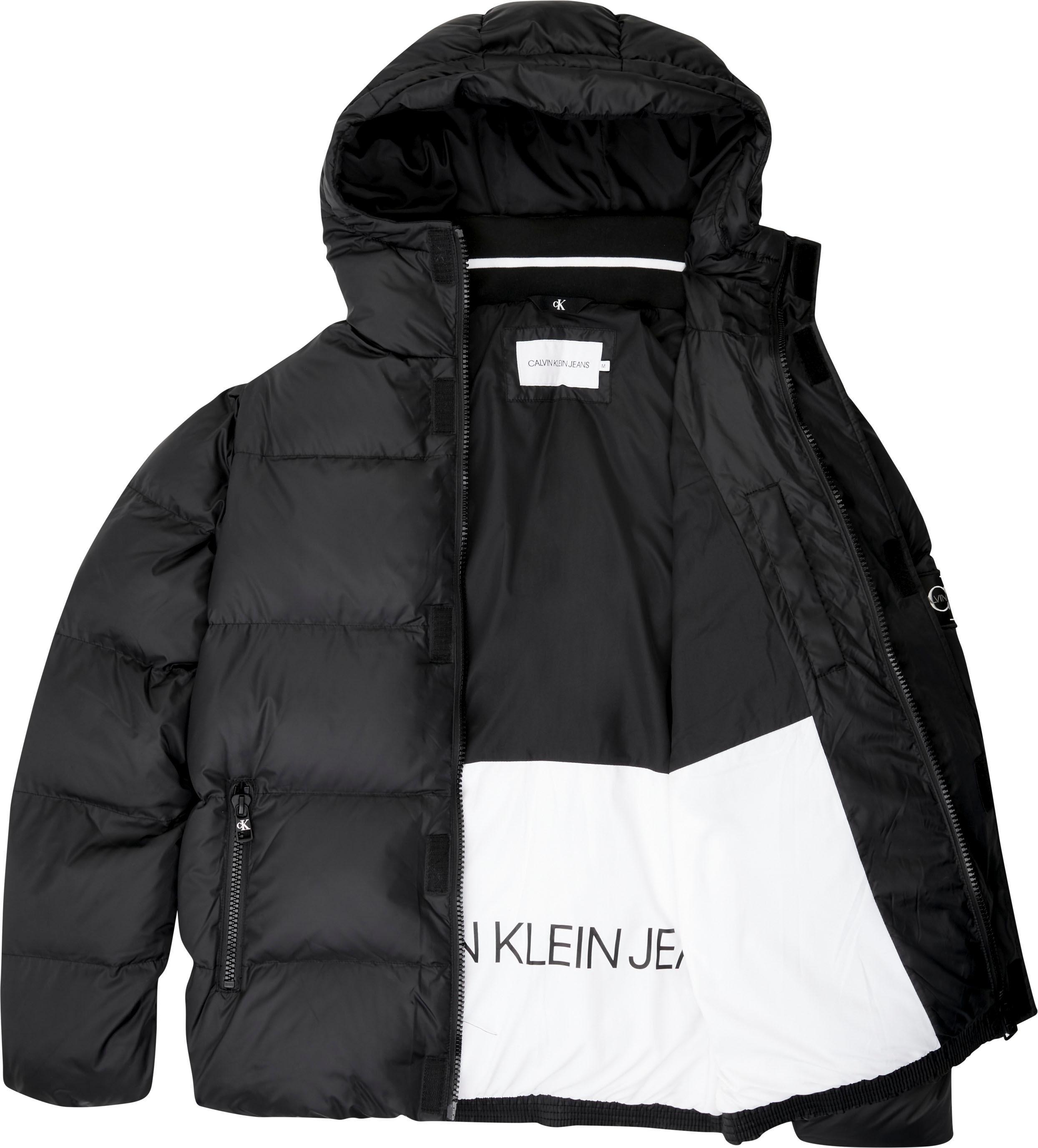 Calvin Klein gewatteerde jas »HOODED PUFFER JACKET« nu online kopen bij OTTO