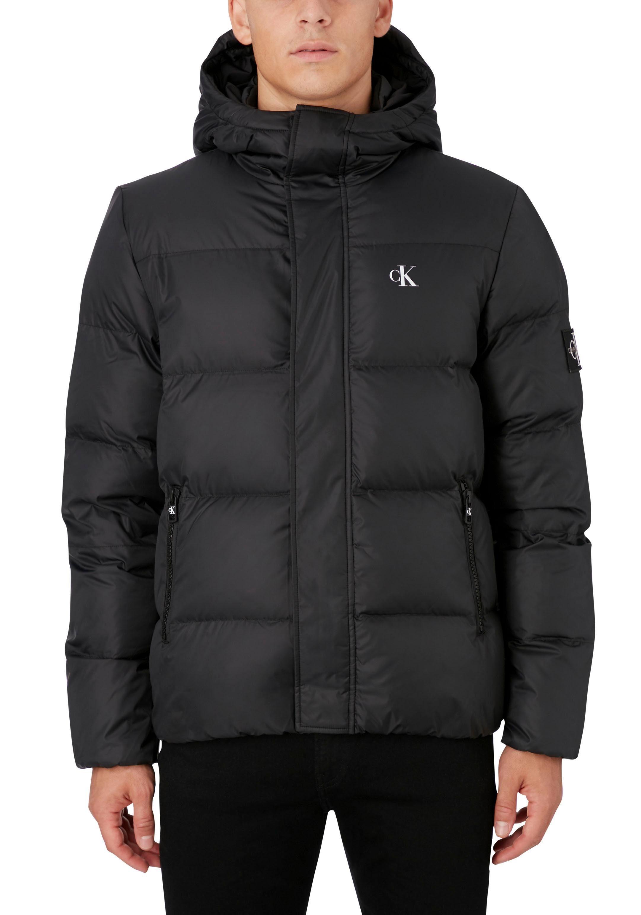 Calvin Klein Gewatteerde Jas Hooded Puffer Jacket Nu Online Bestellen - Geweldige Prijs