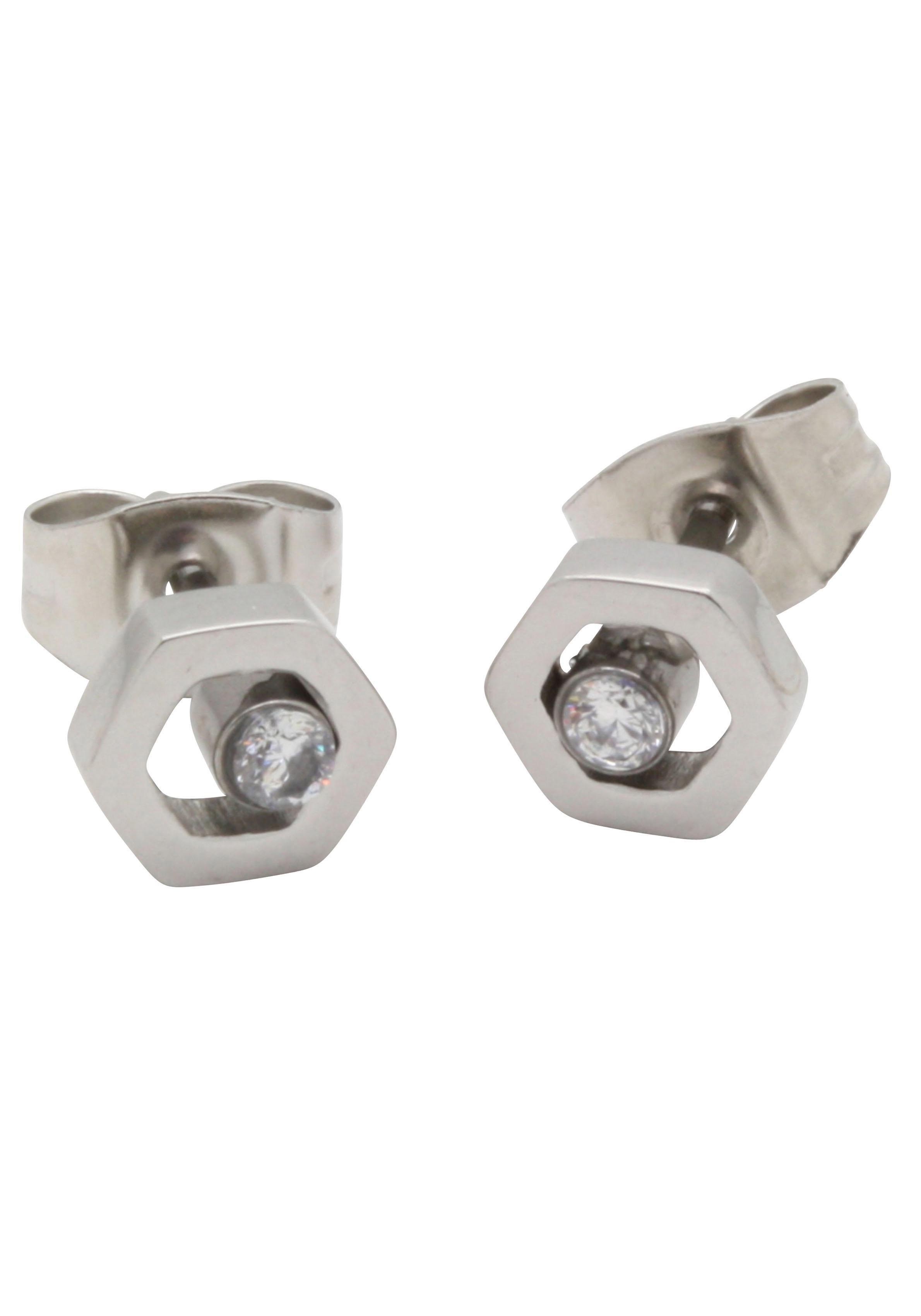 Firetti oorstekers »In geometrischer Sechseckform, Glanzoptik, massiv« bestellen: 30 dagen bedenktijd