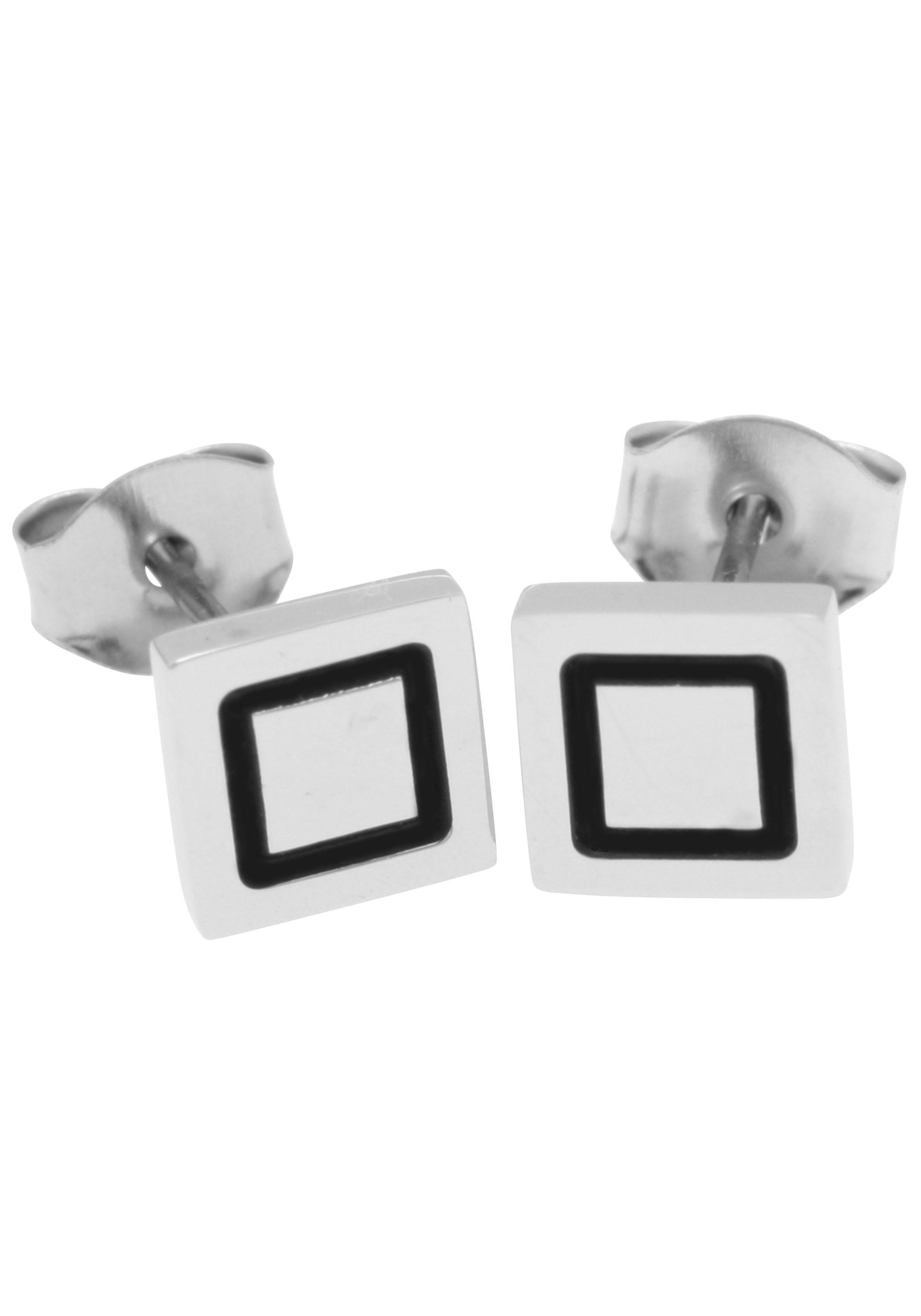 Firetti oorstekers »Geometrische Form, Quadrat, 6,2 mm breit, teilw. geschwärzt, Glanz« goedkoop op otto.nl kopen