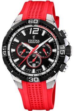 festina chronograaf »chrono bike 2020, f20523-7« rood